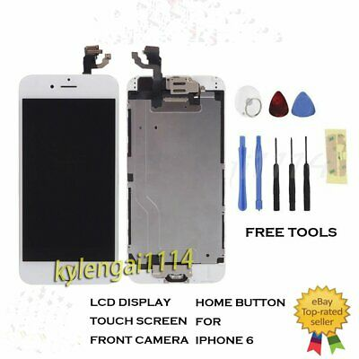 """IPhone 6 4.7"""" Replacement Digitizer LCD Touch Screen white Home Button & Camera"""