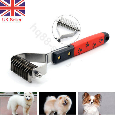 Pet Hair Fur Comb Dematting Shedding Grooming Trimmer Tool for Cat Dog