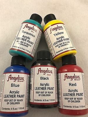 Angelus Leather Paint 118 mls for leather shoes, sneakers, bags