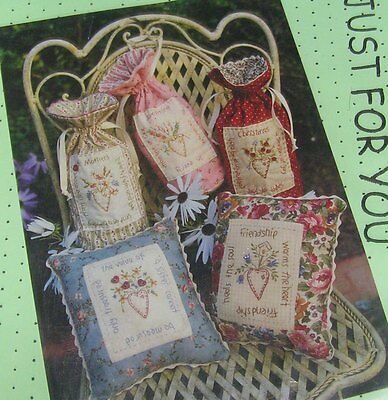 Mum's Moment Gift Bag Cushion Patchwork Applique Sewing Pattern Uncut + Buttons