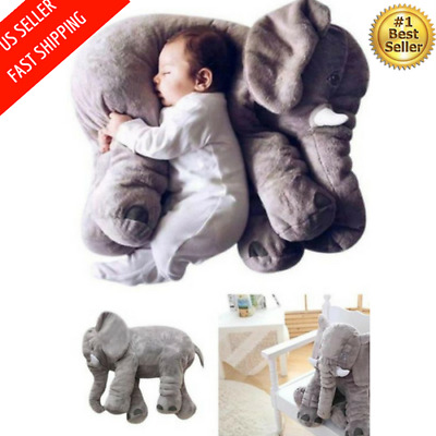 Large Long Nose Elephant Sleep Pillow For Baby Super Soft Plush Cushion Toy Doll