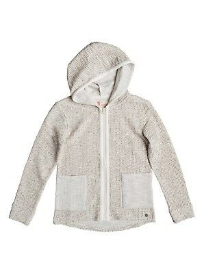 Roxy Cool White  Girls Hoody in Metro Heather