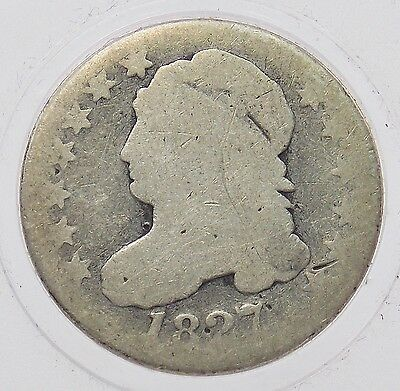 1827 Capped Bust Silver Dime 10c Coin Pointed Top 1 Free Shipping (#5174)
