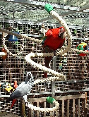 New Large Sisal Rope Parrot Curly Bungie Rope