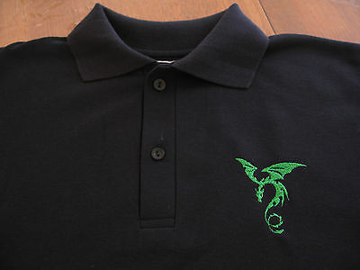 Children's Polo Shirt boys girls Short Sleeve Navy with dragon embroidery