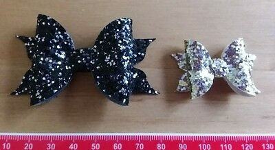 Flutter-Bow SMALL & TINY Plastic Bow Template 6 Pieces - Hair Bow/ Crafts
