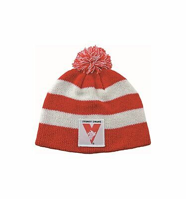 Sydney Swans Official AFL Chunky Knit Baby Infant Beanie