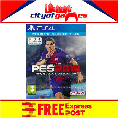 Pro Evolution Soccer 2018 Premium Edition PS4 Game New & Sealed In Stock