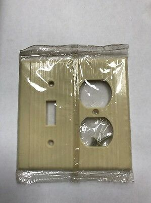 Leviton Bakelite Ribbed Light Switch & Outlet Cover NOS New Old Stock Ivory