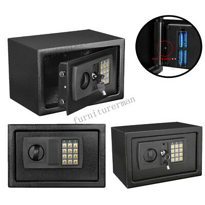High Security Digital Steel Safe Key/electronic Home Office Money Safety Box Uk