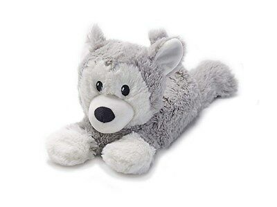 Warmies Cozy Plush Cuddly Soft LAYING HUSKY Lavender Scented Microwavable Toy