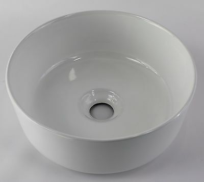 Counter Top Ceramic Basin Bowl 310mm DIA x 125mm Thin ROUND Vanity Low Small