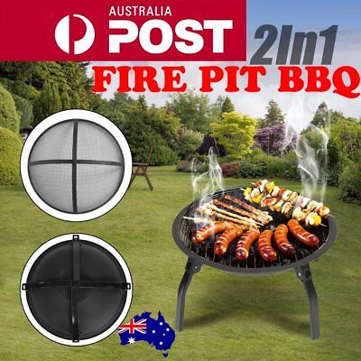 "22"" Portable Outdoor Fire Pit BBQ Camping Garden Patio Heater Fireplace IO"