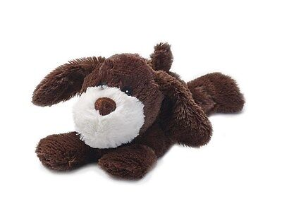 Warmies Cozy Plush Cuddly LAYING BROWN DOG Lavender Scented Microwavable Toy