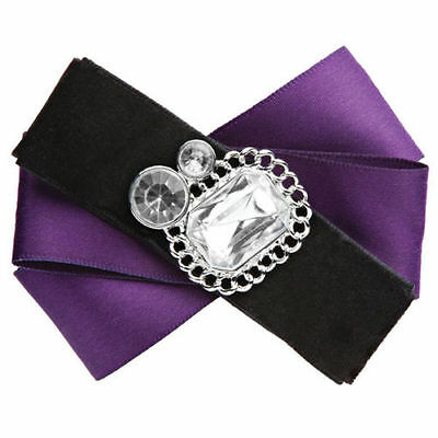 NEW Lindsay Phillips Lillian snaps purple black bows set of 2 snaps cute! NWT