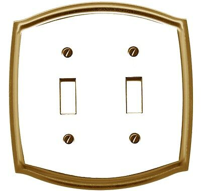 Regal Colonial Decorative Switch plate, Wall plate, Cover, Brass Plated White...