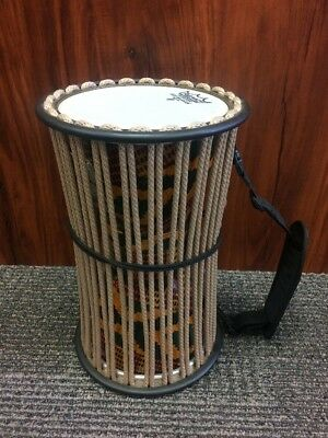 "Talking Drum 11""x6"" New Remo Francis Awe Signature Series Rope Tuned"
