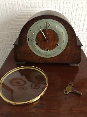 GreT Art Deco Smiths Mantle Clock For Spares Or Repairs