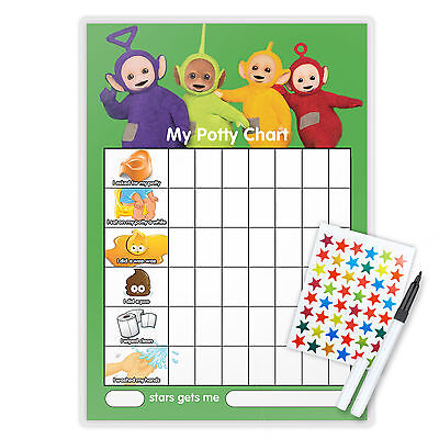 PRINCESS V1 TOILET POTTY TRAINING REWARD CHART including star stickers and pen