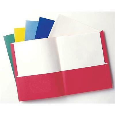 Oxford Twin Pocket Folders, Letter Size, 25 per Box - Green and Yellow