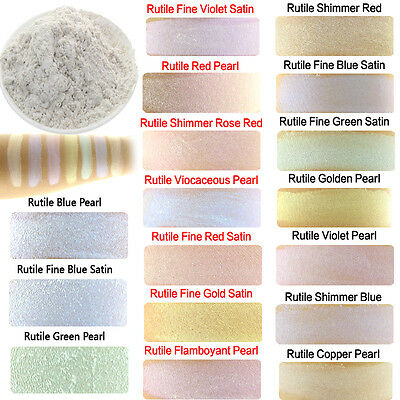 50g Cosmetic Grade Natural Mica Powder Soap Candle Colorant Interference Rutile