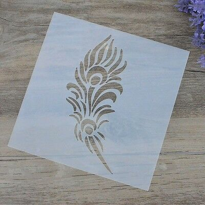 DIY Craft Feather Layering Stencils For Walls Painting Scrapbooking Stamping