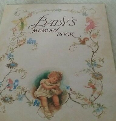 Vintage Baby Memory Book New Perfect Condition
