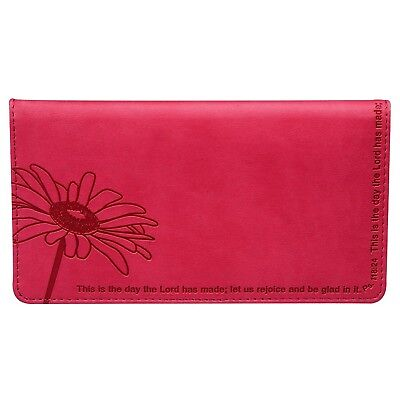 Psalm 118:24 Pink Checkbook Cover