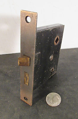 Antique vtg restored japanned doorknob door knob mortise lock latch