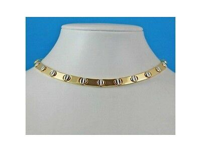 Magnetic Healing Therapy Necklace Choker Two-tone screw design with Copper core