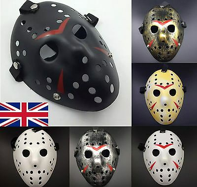 Jason Voorhees Scary Mask Adult Size hockey Halloween Creepy MASK Friday13th