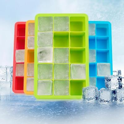 15-Cavity Silicone Drink Ice Cube Pudding Jelly Maker Soap Mold Mould Tray LH