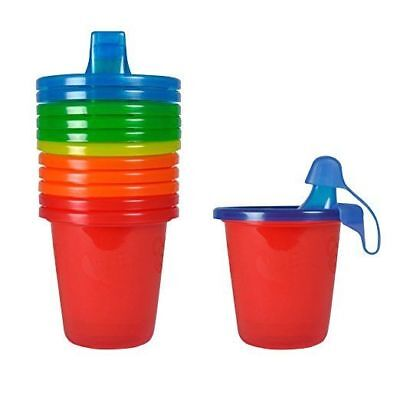 The First Years Take & Toss Spill-Proof Sippy Cups 7 oz. 6 Pack, Colors May Vary