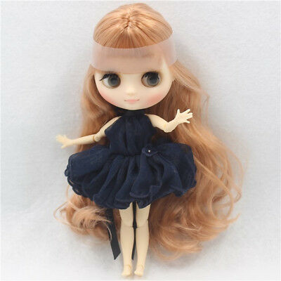 """8/"""" Neo Middie Blythe Doll Golden Hair Joint Body Nude Doll from Factory M2+Gift"""