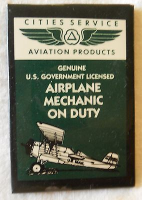 Advertising Mirror Cities Service Aviation Products Airplane Mechanic On Duty NR