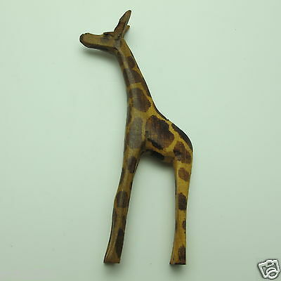 """Vtg Hand Carved  Giraffe  From Africa Approximately  4"""" Tall Very Nicely Carved"""