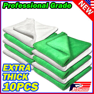 25 Pack Bulk Microfiber Cleaning Cloth No-Scratch Rag Polishing Detailing Towel