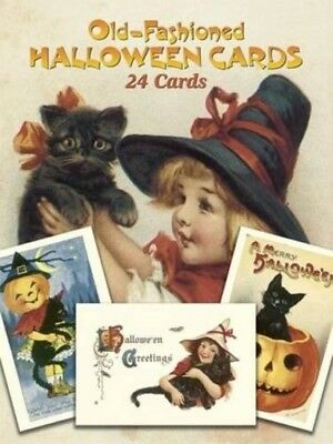 New 24 Pcs Lot Vintage Halloween cards Holiday Dover Postcard Gift Free Shipping