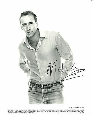 Nicolas Cage Very Nice Early Hand Signed Autographed Photo