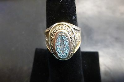10k Gold Southwest Coca Cola Bottling Company Employee Award Ring Size 6