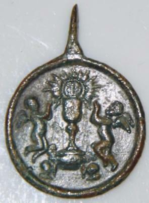 Ascension of Mary & Sacrament of the Eucharist Angles Putto MEDIEVAL HOLY MEDAL