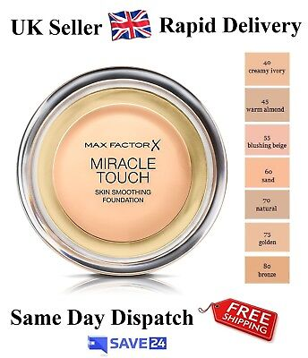 !!RRP£12.99!! Max Factor Miracle Touch Foundation, Sealed - Choose Your Shade