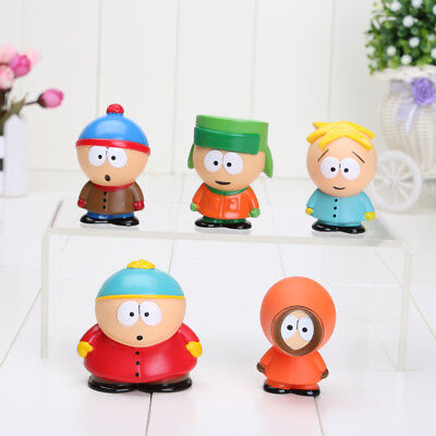 5pcs Set South Park The Stick of Truth Kyle Butters Kenny Cartman Toy PVC Gift