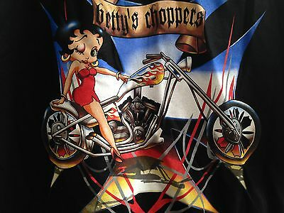 "Betty Boop T-Shirt ..""...betty's Choppers..."" ...black  Size  L  ..new!!"