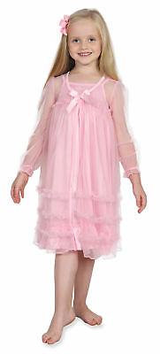 Komar Kids Little Girls' Pink Peignoir Gown Set