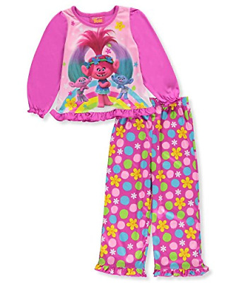 "Trolls Little Girls' Toddler ""Cool Trio!"" 2-Piece Pajamas"