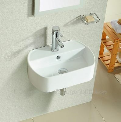 Bathroom Cloakroom Wall Hung / Wall Mounted / corner / Ceramic Basin Sink