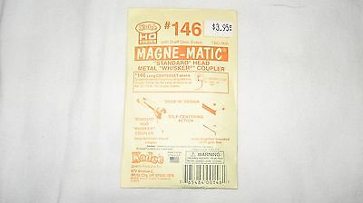 Kadee #146 HO Scale Magne-Matic Whisker Couplers 2-pair W/Draftgear  Boxes  New
