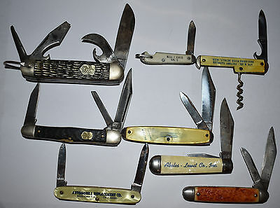 Lot of 8 Pocket Knives with Advertising and Boy Scouts  *LOOK*
