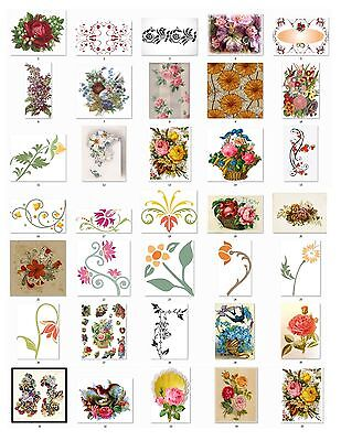 Personalized Return Address labels Victorian Era Flowers  Buy 3 get 1 free